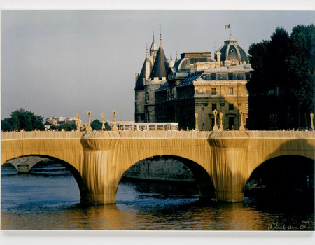 CHRISTO ET JEANNE-CLAUDE The Pont Neuf Wrapped, Paris 1975-85 1985 Photographie 70 x 100 cm Collection Würth, Inv. 2801 Crédit : Wolfgang Volz - © Christo